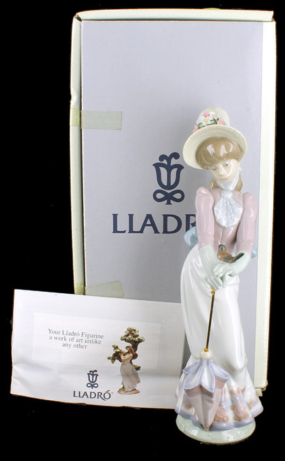 Vintage Lladro Garden Song Porcelain Figurine Retired #7618 Original Box