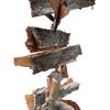 Birch Bark Hanging Garland - Rustic Decoration - Christmas - 1mt Long