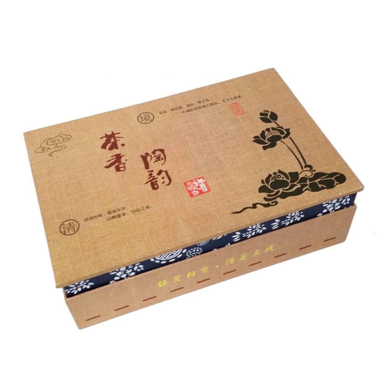 Chinese Hand Painted Bone China Tea Set - Morning Glory - Gift Boxed