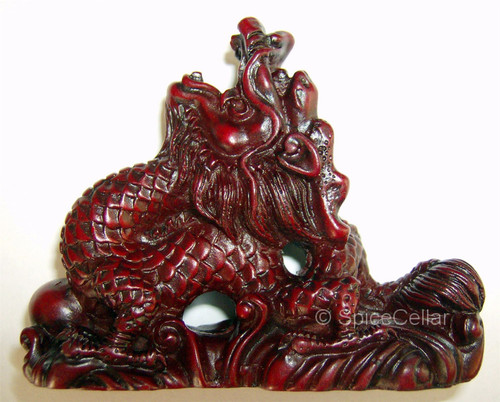 Chinese Dragon Statues - 7cm - Set of 8 - Red Resin - Feng Shui