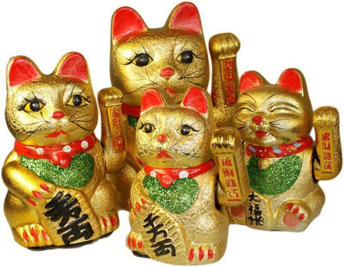 Lucky Waving Cat - Maneki-neko - 20cm Tall - Ceramic - Feng Shui