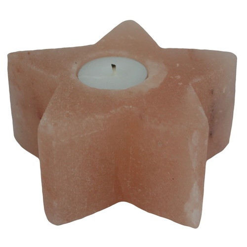 Himalayan Natural Salt Star Shape Candle / Tea Light Holder - 1kg Approx