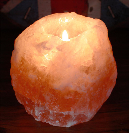 Himalayan Crystal Salt Tea Light Candle Holder - 700g Approx