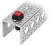 Latching SPST Square Push Button Switch (Red)
