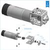 153 RPM Spur Gear Motor w/Encoder