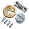 "27:1 Worm Gear Set (1/4"" Bore Worm, Hub Mount Worm Gear)"
