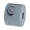 """Steel 1/4"""" D-Bore Barrel Hub for Worm Gear"""