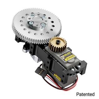 SG12 Series Servo Gearbox (3:1 Ratio, 642° Rotation, 1050 oz-in, 0.48 sec/60°)