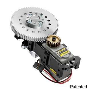 SG12 Series Servo Gearbox (3.8:1 Ratio, 640° Rotation, 1330 oz-in, 0.61 sec/60°)