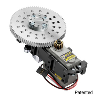SG12 Series Servo Gearbox (7:1 Ratio, 640° Rotation, 2450 oz-in, 1.12 sec/60°)