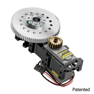 SG12 Series Servo Gearbox (3.8:1 Ratio Continuous Rotation, 1330 oz-in, 16 RPM)