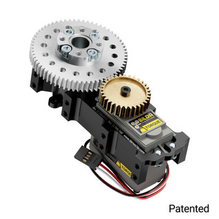 SG12 Series Servo Gearbox (2:1 Ratio, Continuous Rotation, 700 oz-in, 31 RPM)
