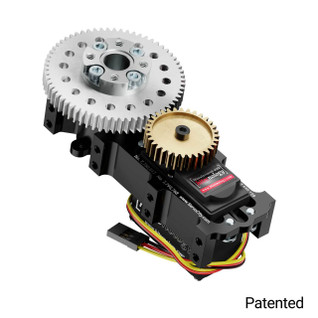 SG20 Series Servo Gearbox (2:1 Ratio, 1260° Rotation, 944 oz-in, 0.28 sec/60°)