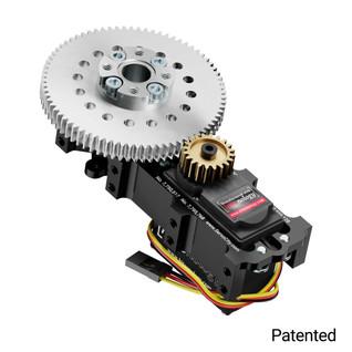 SG20 Series Servo Gearbox (3.8:1 Ratio, 663° Rotation, 1794 oz-in, 0.53 sec/60°)