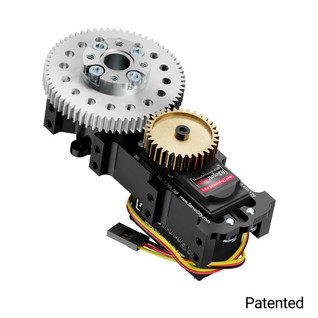 SG20 Series Servo Gearbox (2:1 Ratio, Continuous Rotation, 944 oz-in, 35 RPM)