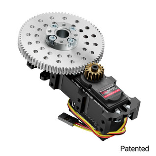 SG20 Series Servo Gearbox (5:1 Ratio, Continuous Rotation, 2360 oz-in, 14 RPM)