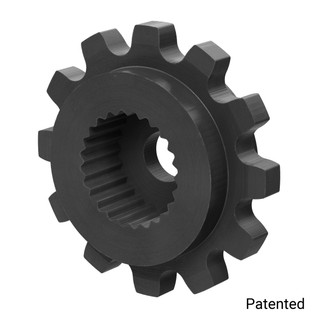"0.1227"" Pitch, 12 Tooth Nylon Servo Sprocket with 24 Tooth Spline"
