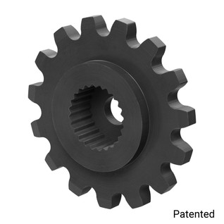 "0.1227"" Pitch, 15 Tooth Nylon Servo Sprocket with 24 Tooth Spline"