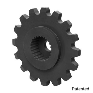 "0.1227"" Pitch, 16 Tooth Nylon Servo Sprocket with 24 Tooth Spline"