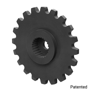 "0.1227"" Pitch, 20 Tooth Nylon Servo Sprocket with 24 Tooth Spline"