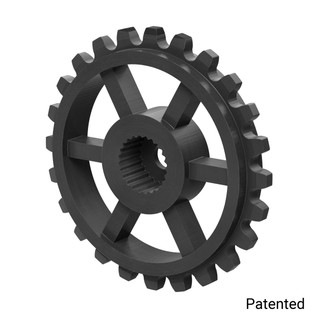 "0.1227"" Pitch, 24 Tooth Nylon Servo Sprocket with 24 Tooth Spline"