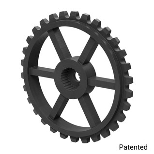 "0.1227"" Pitch, 30 Tooth Nylon Servo Sprocket with 24 Tooth Spline"