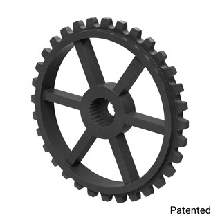 "0.1227"" Pitch, 32 Tooth Nylon Servo Sprocket with 24 Tooth Spline"