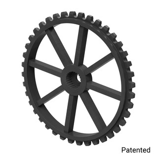 "0.1227"" Pitch, 40 Tooth Nylon Servo Sprocket with 24 Tooth Spline"
