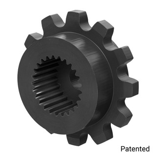 "0.1227"" Pitch, 12 Tooth Nylon Servo Sprocket with 25 Tooth Spline"