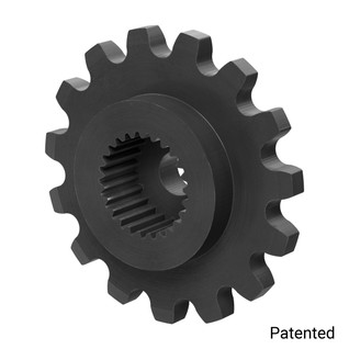 "0.1227"" Pitch, 15 Tooth Nylon Servo Sprocket with 25 Tooth Spline"