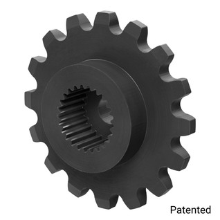 "0.1227"" Pitch, 16 Tooth Nylon Servo Sprocket with 25 Tooth Spline"
