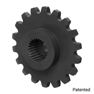"0.1227"" Pitch, 18 Tooth Nylon Servo Sprocket with 25 Tooth Spline"