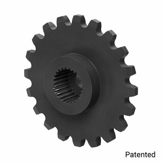 "0.1227"" Pitch, 20 Tooth Nylon Servo Sprocket with 25 Tooth Spline"