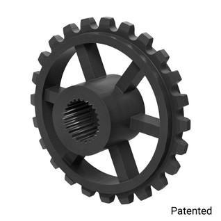 "0.1227"" Pitch, 24 Tooth Nylon Servo Sprocket with 25 Tooth Spline"