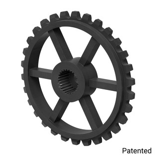 "0.1227"" Pitch, 30 Tooth Nylon Servo Sprocket with 25 Tooth Spline"