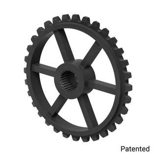 "0.1227"" Pitch, 32 Tooth Nylon Servo Sprocket with 25 Tooth Spline"