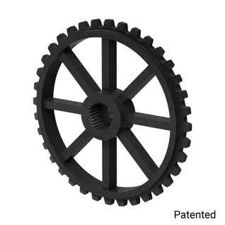 "0.1227"" Pitch, 36 Tooth Nylon Servo Sprocket with 25 Tooth Spline"