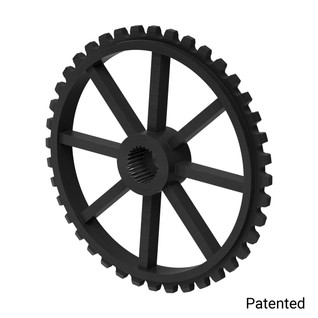 "0.1227"" Pitch, 40 Tooth Nylon Servo Sprocket with 25 Tooth Spline"