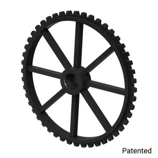 "0.1227"" Pitch, 48 Tooth Nylon Servo Sprocket with 25 Tooth Spline"