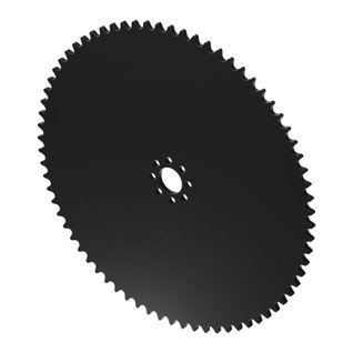 """72 Tooth 0.770"""" Acetyl Hub Mount Sprocket 0.250"""" Pitch"""