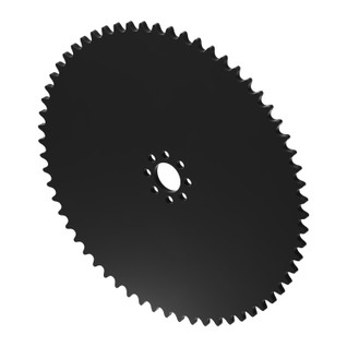 """62 Tooth 0.770"""" Acetyl Hub Mount Sprocket 0.250"""" Pitch"""