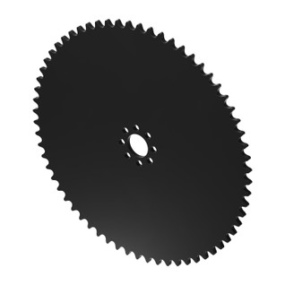 """64 Tooth 0.770"""" Acetyl Hub Mount Sprocket 0.250"""" Pitch"""