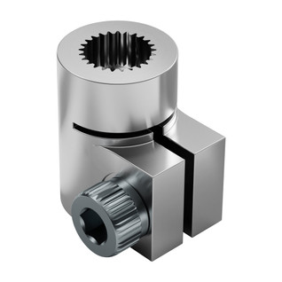 6mm 25 Tooth (3F/H25T) Spline, Servo to Shaft Clamping Coupler
