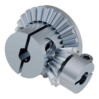 "2:1 Bevel Gear Set (6mm Bore Pinion, 1/4"" Bore Spur)"