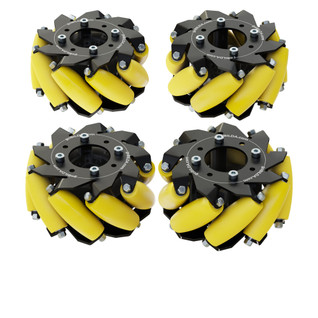 3213-3606-0001 - 3606 Series Mecanum Wheel Set (Bearing Supported Rollers, 100mm Diameter)