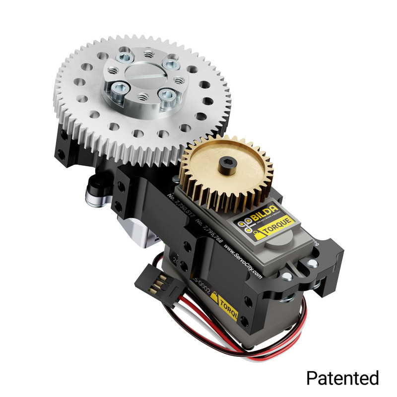 SG12 Series Servo Gearbox (2:1 Ratio, 640° Rotation, 700 oz-in, 0.32 sec/60°)