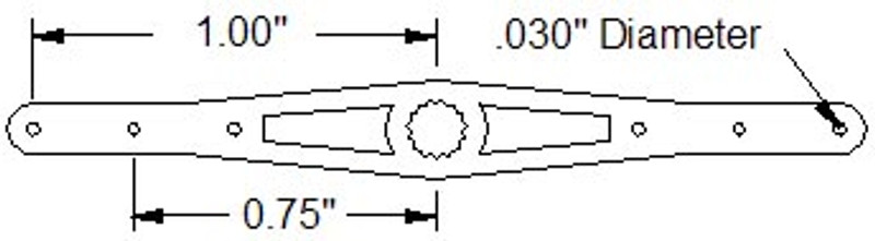 "2.00"" Double Servo Arm (A15T Spline)"