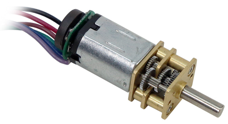Premium N20 Gear Motor (210:1 Ratio, 130 RPM, with Encoder)