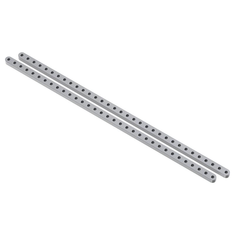 """Aluminum Flat Beam (33 Hole, 12.32"""" Length) - 2 Pack"""