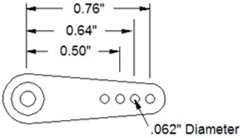 Aluminum Single Servo Arm (B25T Spline)